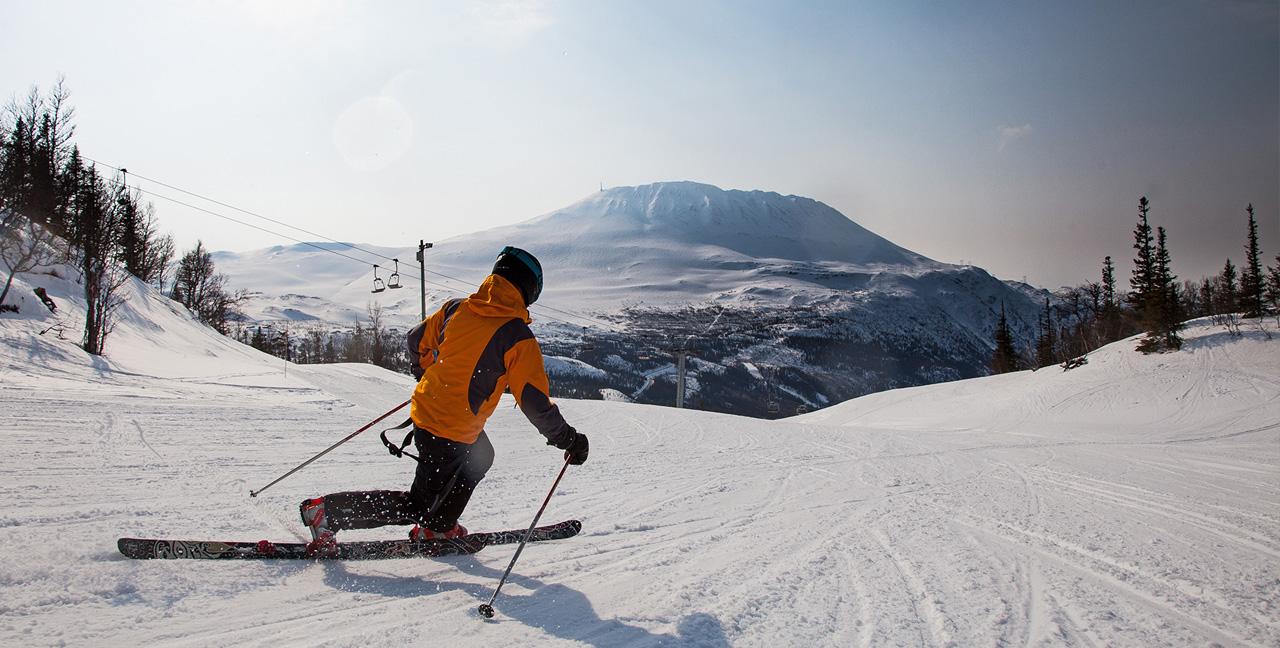 ski i norge med børn